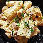 recette Rigatonis ricotta/saucisse