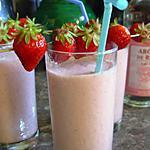 recette Milk shake à la fraise, saveur de rose.