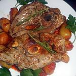 recette Tranches de gigot grillées rates a la sauce tomate