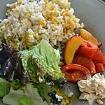recette Riz aux lentilles, abricots et tomates rôtis