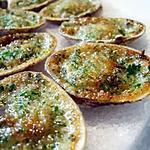 recette Palourdes farcies au beurre d'escargots...