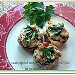 recette Champignons farcis aux légumes et mascarpone