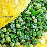recette Omelette aux petits pois d'Alain Ducasse, végétarien