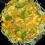recette spaghettis aux crevettes sauce coco