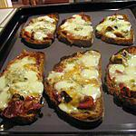 recette tartines mozarella, jambon et gorgonzola