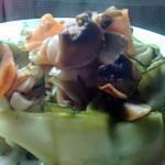 recette timbale de tagliatelles de légumes (15 mns)