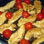 recette Emincé de dinde au balsamique, tomates cerise et parmesan