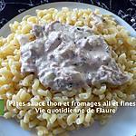 recette Pâtes sauce thon et fromage ail et fines herbes