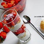 recette Verrine rouge et blanche, fraise et yaourt