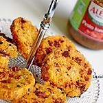 recette Sablés au pesto de tomates et chorizo