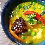 recette filet de loup de mer juste cuit dans un bouillon asiatique aux poivrons grillés ( recette zéro calories!!! )
