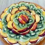 recette tarte mascarpone peche kiwi