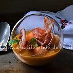recette Gaspacho melon et tomates, façon Basque