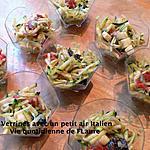 recette Verrines avec un petit air Italien