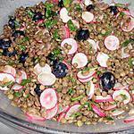 recette Salade de lentilles aux myrtilles et radis