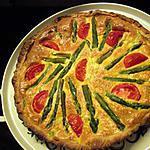 recette Quiche feuilletée aux asperges vertes