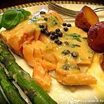 recette Filets de truite, sauce crémeuse câpres et citron