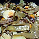 recette POELEE DE POIS GOURMANDS,CAROTTES,POMMES DE TERRE