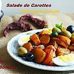 recette SALADE DE CAROTTES A LA CHARMOULA ( SENNARYA TORCHI )