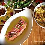 recette Saumon mariné, façon escabèche +