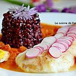 recette Filet de cabillaud cuit à basse température à la sauce américaine