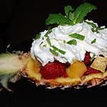 recette Salade de fruits chantilly menthe