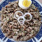 recette Salada de Feijao frade com Atum (Salade d'haricots au yeux avec thon)