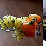 recette Pâtes ail-épinards et parmesan