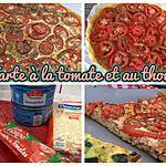 recette TARTE A LA TOMATE ET AU THON