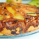 recette Gâteau aux poires parfumées à la liqueur de poires Williams et caramélisées