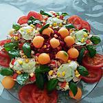 recette Salade fraîcheur de crudités  au saumon
