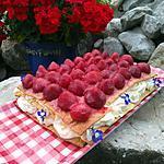 recette Mille-feuille au coulis de gelée de fraises ... !  à l'onctueuse crème fouettée