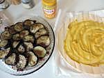 tatin d'aubergines, tomates séchées, pignons et moutarde douce (2)