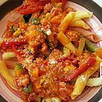 recette Pâtes à la saucisse italienne poivrons-piment ou pas