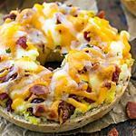 recette bagel œufs et bacon