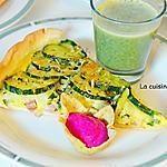 recette Tarte aux courgettes à l'ail des ours et soupe à l'ortie