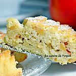 recette Gâteau hyper moelleux à la pomme, écorce de combava et blancs d'oeufs