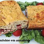 recette Cake bacon tomates léger