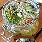 recette Queue de brocoli au vinaigre ,feuilles de curry et sauge