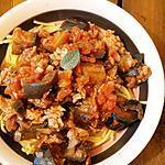recette Pâtes toutes simples viande de veau et aubergines