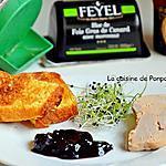 recette Foie gras accompagné de confiture de cerises à l'ail noir