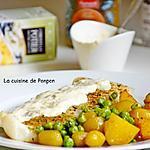 recette Filet de cabillaud cuit à basse température nappé de sauce aux poireaux Potier