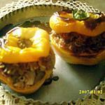 recette poivrons jaunes farcis aux aubergines