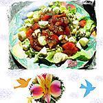 recette salade composée  aux deux fromages