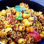 recette Pois chiches et quinoa façon chole tikki ( indien) chaud ou froid