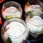 recette Verrines de concombre au yaourt et sirop de citron vert