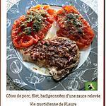 recette Côtes de porc filet et sa sauce parfumée