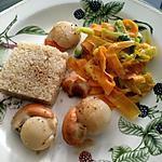 recette St Jacques tagliatelles de légumes et quinoa