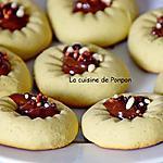 recette Biscuit au presse agrume à la crème de pistache et son coeur à la confiture de lait cacao et noisettes