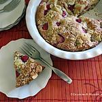 recette Tarte sans croûte coco-fraises +